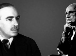 میلتون فریدمن و جان مینارد کینز